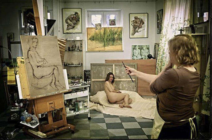Painter and Model<br><small>A Special Kind of Relationship</small>